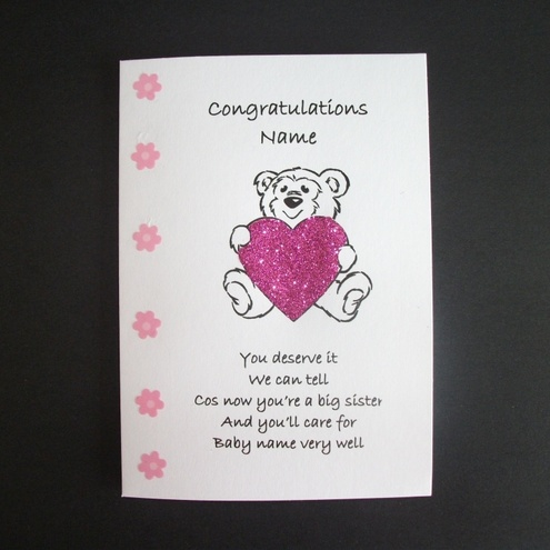 Personalised Congratulations New Big Brother Or Folksy