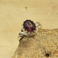 Purple Amethyst adjustable ring. Reiki jewelry. February birthstone