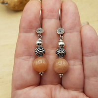 Sunstone earrings. Reiki Charged.
