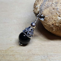 Black Tourmaline pendant. October birthstone