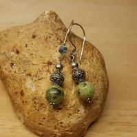 Green Chrysoprase earrings. May birthstone
