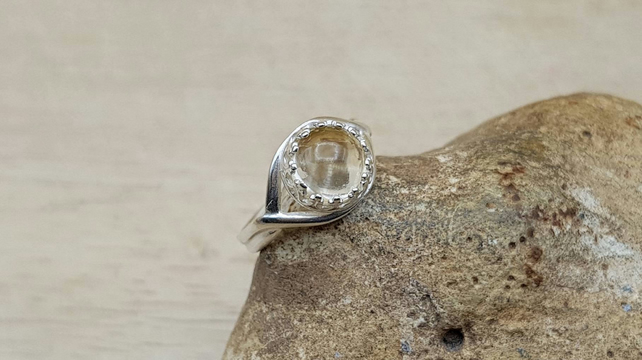 Sterling silver Citrine Ring. November birthstone. Reiki jewelry