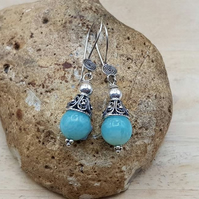 Amazonite cone earrings. Virgo jewelry. Crystal Reiki jewellery