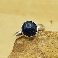 Adjustable Lapis Lazuli ring. September birthstone