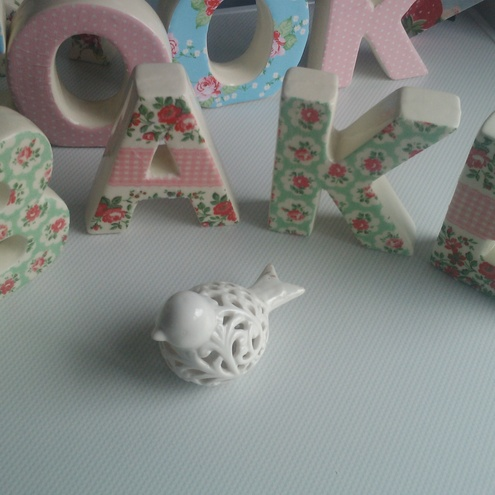 cath kidston shabby chic ceramic letters bake folksy With bake letters