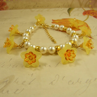 English Garden Collection - Daffodil Charm Bracelet