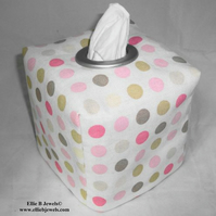 Reversible Tissue Box Cover - Gingham and Spots