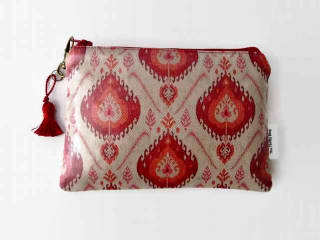 Ikat Print Ladies Wallet Phone Purse