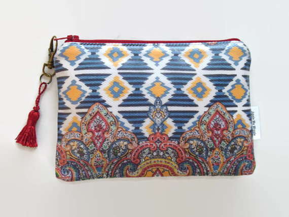 Ethnic Ikat Print Ladies Wallet Phone Purse