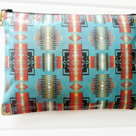 Large Aztec Waterproof Clutch Purse Bag Cosmetics Travel