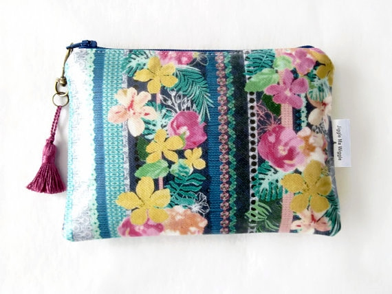 Tropical Clutch Wallet Phone Purse