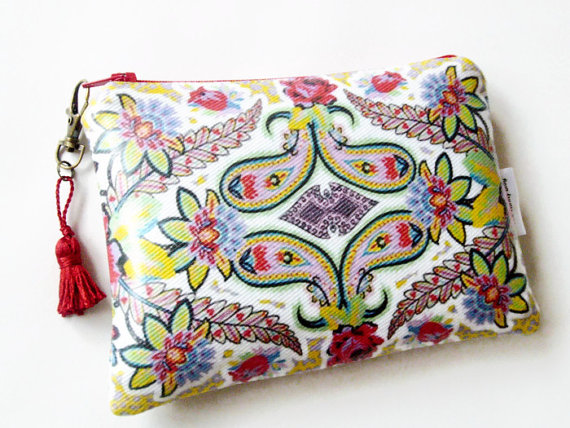 Floral Paisley Ladies wallet purse clutch