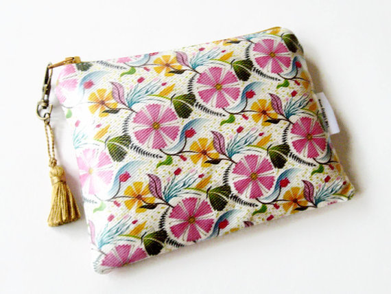 Floral Ladies wallet purse clutch