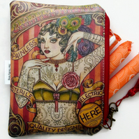 Waterproof Vintage Tattoo Bag, Purse, Wallet