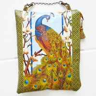 Waterproof Peacock Hanging Cosmetic Bag