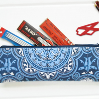 Waterproof tile print pencil case, brush bag