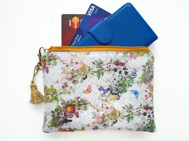 Ladies wallet, glasses pouch, make-up bag