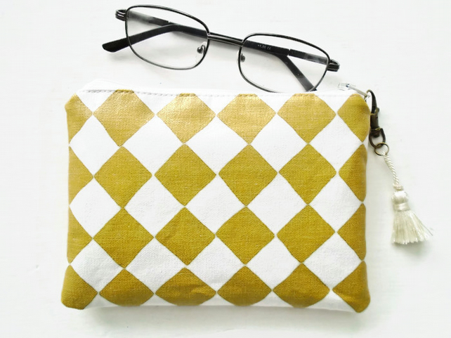 Yellow Harlequin waterproof wallet