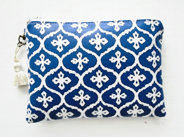 Waterproof Moroccan Blue Clutch