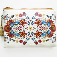 Waterproof folk Flowers Wallet