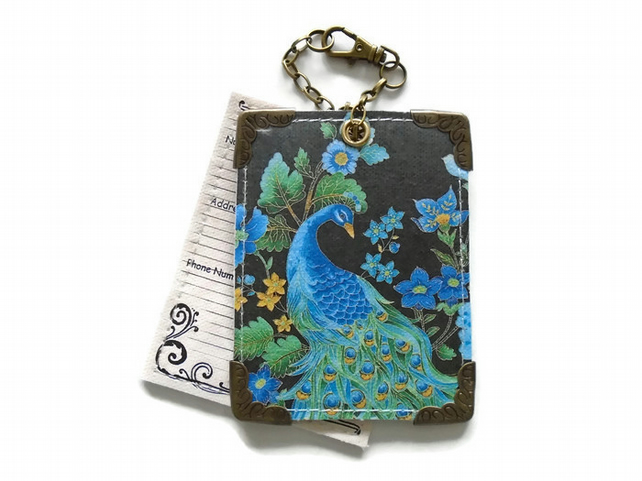 Peacock Luggage Tags