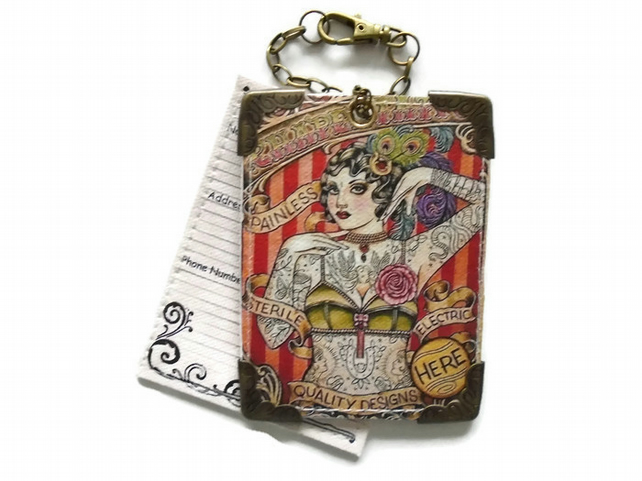 Tattoo Girl Luggage Tags