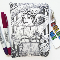 Colour-In Day Tatto Lady Wallet