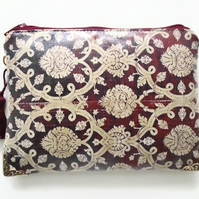 Waterproof Burgundy Print Wallet