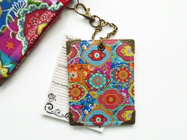 Indian Print Vinyl Luggage Tags