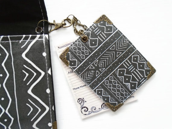 dark mudcloth Luggage Tags