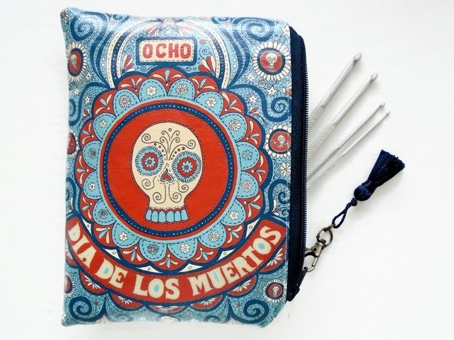 Waterproof Day Of The Dead Tampon Pouch