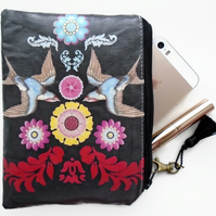 Tattoo Bird Folk Wallet, Purse, Bag, Pouch