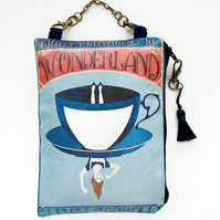 Waterproof Alice In Wonderland, Lewis Carroll, Hanging bag, Wallet, cosmetics