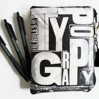 Waterproof Typography Pen Wallet