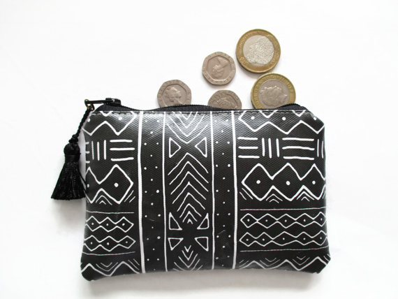 Waterproof Mudcloth coin Purse