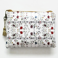 Waterproof Womens Floral Wallet, Purse,makeup bag,phone pouch,money