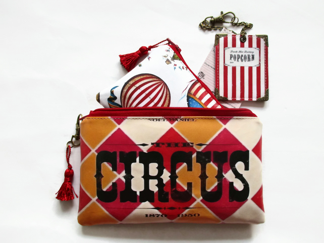 WaterproofCircus Print Travel Wallet, passport, luggage set