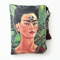 Waterproof Frida Khalo Wallet, Purse, Bag, Pouch