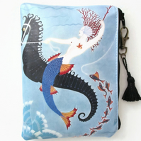 Art Deco Mermaid Waterproof, Purse, Bag, Pouch
