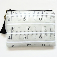 Waterproof vintage tape measures wallet, case, bag