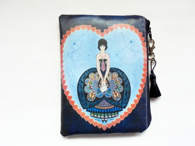 Waterproof 1920s design Clutch Wallet Purse Cosmetic storage