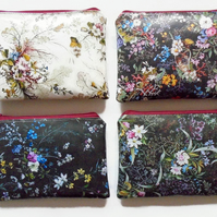 Waterproof Floral Wallets Wallet, Phone,  Purse, cosmetic bag,  make-up bag