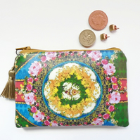 Waterproof  flowers wallet, coin Purse