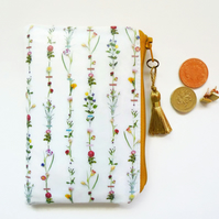 Waterproof  flower stems wallet, coin Purse