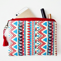 Waterproof pouch navajo, american indian, tribal ,aztec coin purse