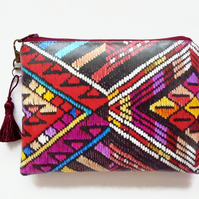 Waterproof geometric tribal Wallet, Phone,  Purse, cosmetic bag,  make-up bag