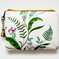 Waterproof fern leaves, Phone sleeve,  Purse, cosmetic bag,  make-up bag