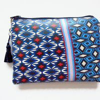 Waterproof Ethnic Geo mixl Wallet, Phone,  Purse, cosmetic bag,  make-up bag