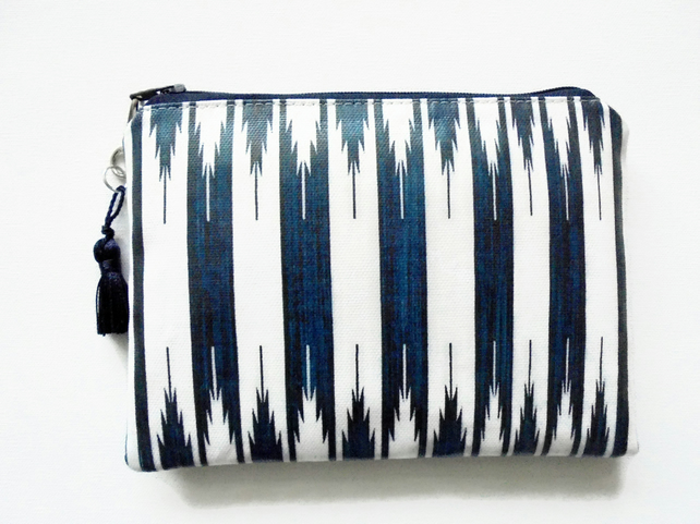 Waterproof tribal navy stripe, Wallet, Phone,  Purse, cosmetic bag,  make-up bag