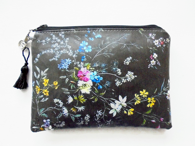 Waterproof antique floral, Phone sleeve,  Purse, cosmetic bag,  make-up bag
